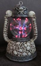 PK 72141 Plasmakugel mit Totenköpfen, Totenkopf, Lichteffekt, Laterne, Lampe,
