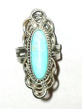 Großer Türkis Ring massiv Silber Sterling 925 signiert BERRA
