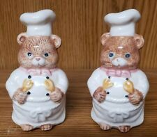 Vintage Mice Chef Salt and Pepper Shakers Set