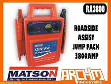 MATSON RA3800 - ROADSIDE ASSIST JUMP PACK 3800AMP - VOLTAGE BATTERY CLAMPS