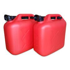 2 x 10 Liter Dieselkanister Benzinkanister UN-Zulassung rot inkl. Ausgießer NEU