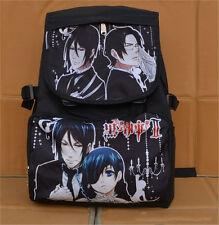 Black Butler 2 Kuroshitsuji II Ciel Sebastian Schoolbag Backpack Anime Bag