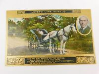 Antique 1907-16 Postcard Lovers Lane Saint Jo Horse Carriage Poetry