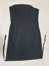 Express black strapless dress with lace up corset style sides, ladies' size 8