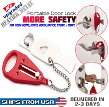 Portable Travel Security Safety Door Lock Room Hotel Intrusion Prevention Buckle