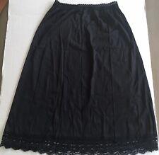 Vintage Olga Secret Hug Style 963 Black Half Slip Size Lv-3-7,stretch Lace waist