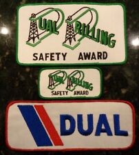 VINTAGE Dual Drilling Oilfield Patches Oil Gas Rig Derrick Roughneck FREE SHIP