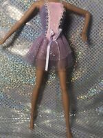 Barbie Doll Ballerina Tutu Pink And Purple With Silver Beautiful