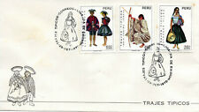 Perú 1972, Peruvian Provincial Costumes, first Day Postmark