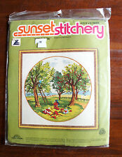 "Vintage 1980 Sunset Stitchery ""APPLE TIME"" -  New in Sealed Package"