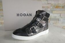 HOGAN Gr 38,5 High-Top Sneakers Stiefeletten booties Schuhe metall NEU UVP 430 €