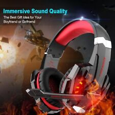 Gaming Headset Xbox One Pro Game Headphones PS4 PC Noise Cancelling LED Red