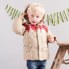 Dave & Bella Boys Winter Jacket, Size 24m Beige / Red knit look NWT Designer