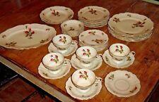 Porcelain Partial Dinner Set - Rosenthal - Pompadour - Moss Rose