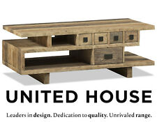 Rustic Industrial Timber Coffee Table Vintage French Provincial Wooden Furniture