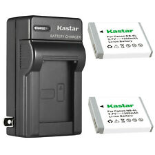 Kastar NB-6LH Battery + Charger for Canon Powershot SD3500 SD4000 SX700 SX710 HS