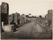 Photo Roberto Rive Albuminé Italie Pompéï Italia Vers 1880