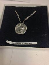"""Greek Owl Coin WE-GCKR Emblem Silver Platinum Plated Necklace 18"""""""