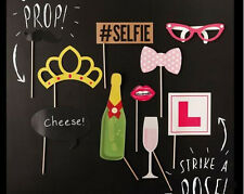 10Pcs Funny Hen Party Photo Booth Props Kit Night Games Accessories Favors DIY