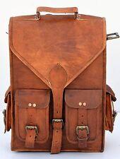 Neue Männer Frauen Vintage Leder Rucksack Schulranzen Laptop -Umhängetasche