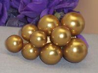 Vintage Big Gold Ball Grape Cluster Style Fur Dress Clip