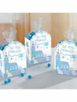 Blue & White 1st Holy Communion Church Favour Boxes Bags Table Decorations 8pk