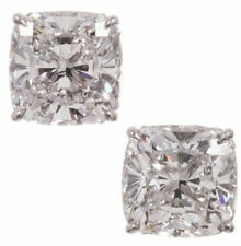 4 tcw Stud Earrings Solid 925 Sterling Silver Cushion Four Prong Jewelry Cz Gift