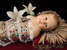 Augustiner Kindl, Fatschenkind, Jesuskind, Wax doll, Klosterarbeit