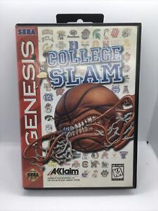 College Slam (Sega Genesis, 1996) Case and Cartridge Great Condition Vintage