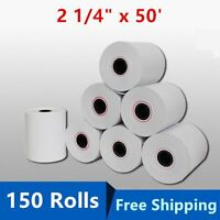 "150 Roll Case 2 1/4"" 57mm x 50' Thermal Cash Register POS Receipt Paper BPA Free"