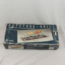 Hot Stone Hotstone Grill P121K w 2 Alcohol Burners Indoor Barbeque Grill