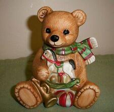 Homco Christmas Porcelain Bear Figurine #5251
