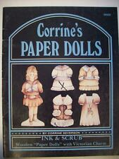 Decorative painted paper doll patterns Corrine's victorian charm