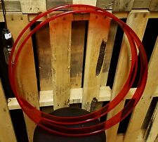 "PEARL CRYSTAL BEAT 20"" RED ACRYLIC BASS DRUM HOOPS"