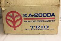 TRIO KA-2000A AUDIOPHILE STEREO INTEGRATED AMPLIFIER RARE