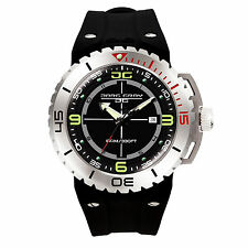 Brand New Jorg Gray JG8700-11 Mens 100M Black SS Divers Swiss Analog Dial Watch