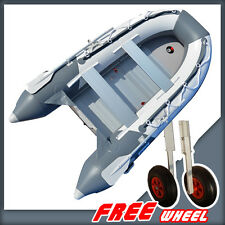 BRIS 10.8 ft Inflatable Boat Dinghy Tender Pontoon Boat +Free Launching Wheels
