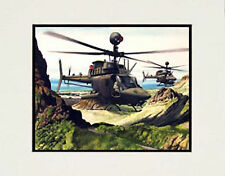 """US Army Kiowas, Hawaii"" 11x14 Print by watercolor artist Garry Palm"