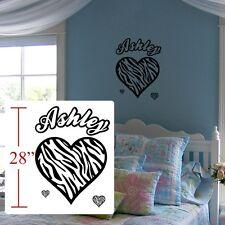 Zebra decal kids room, Zebra Personalized,Zebra wall door decal room sticker