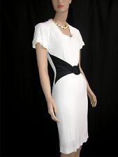 $1850 FENDI CLASSIC WHITE BLACK DRESS wBELT size 40 NEW