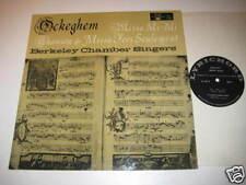 LP/OCKEGHEM/BERKELY CHAMBER SINGERSTIKEY ZES/LL 108