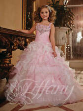 Tiffany 13371 Sparkling Pink Girls Pageant Gown sz 6