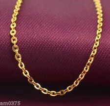 """Authentic 999 24K Yellow Gold Necklace Perfect O Link Chain Necklace 16.9""""L"""