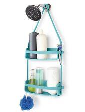 Umbra FLEX Hanging SHOWER CADDY Bathroom Organiser Shower TIDY - Surf BLUE