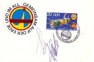 Kosmonauten Köllner und Bykowski org. auf Karte Sojus 31 mit Sonderstempel