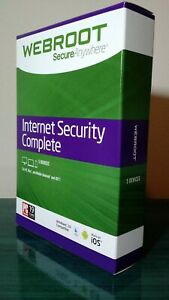 Webroot Complete AntiVirus Identity Mobile Security | 3 YRS 5 DEVICES | DOWNLOAD