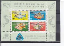 TIMBRE STAMP BLOC BRESIL  Y&T#23 POISSON FISH NEUF**/MNH-MINT 1969 ~C29