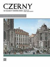 CZERNY, 40 EXERCISES, OPUS 337 - CZERNY, CARL (COM)/ HINSON, MAURICE (EDT) - NEW