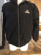 Adidas Mens Heavy Reverseable Black/gray Hooded Jacket