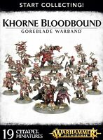 WARHAMMER AGE OF SIGMAR - START COLLECTING! KHORNE BLOODBOUND GOREBLADE WARBAND